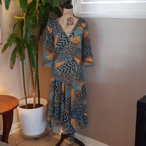 Joseph Ribkoff Vintage Asymmetrical Dress